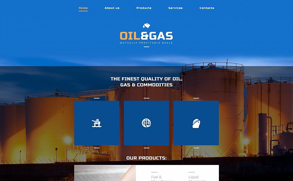 Responsive Moto CMS 3 Template over Gas & Olie  New Screenshots BIG