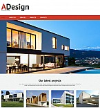 Architecture Moto CMS 3  Template 55329