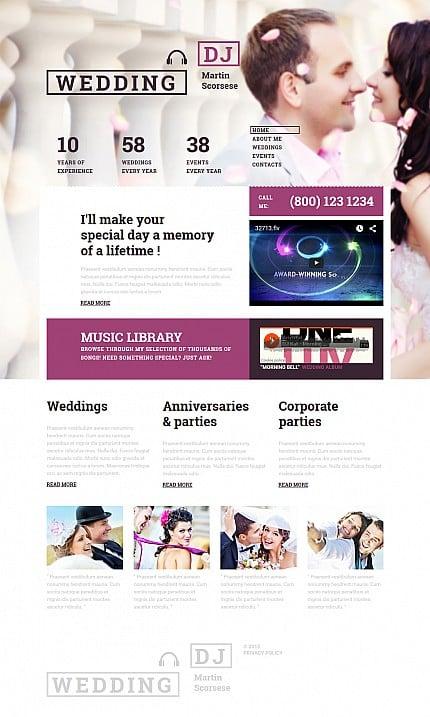 ADOBE Photoshop Template 55337 Home Page Screenshot