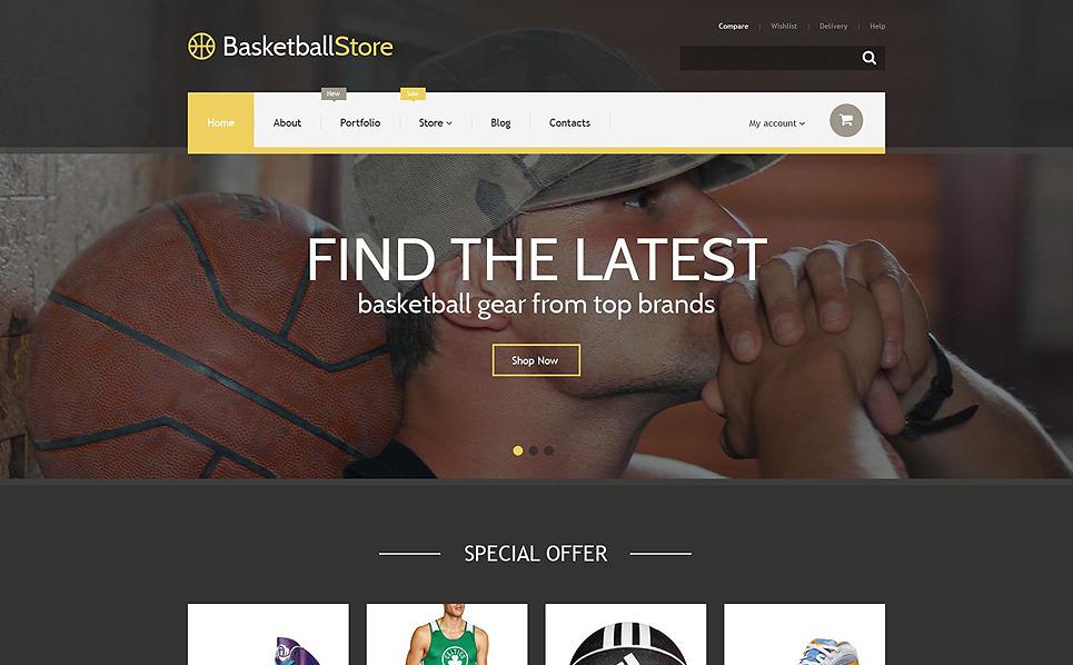Адаптивний WooCommerce шаблон на тему баскетбол New Screenshots BIG