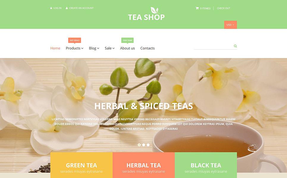 Reszponzív Teabolok Shopify sablon New Screenshots BIG