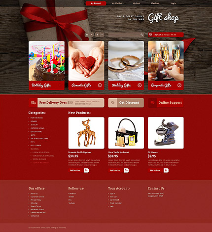 osCommerce Template 55362 Main Page Screenshot