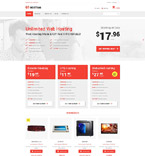 Web Hosting VirtueMart  Template 55367