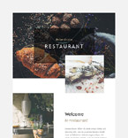 Cafe & Restaurant Newsletter  Template 55379