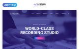 Responsivt TopSound - Recording Studio Modern Multipage HTML Hemsidemall