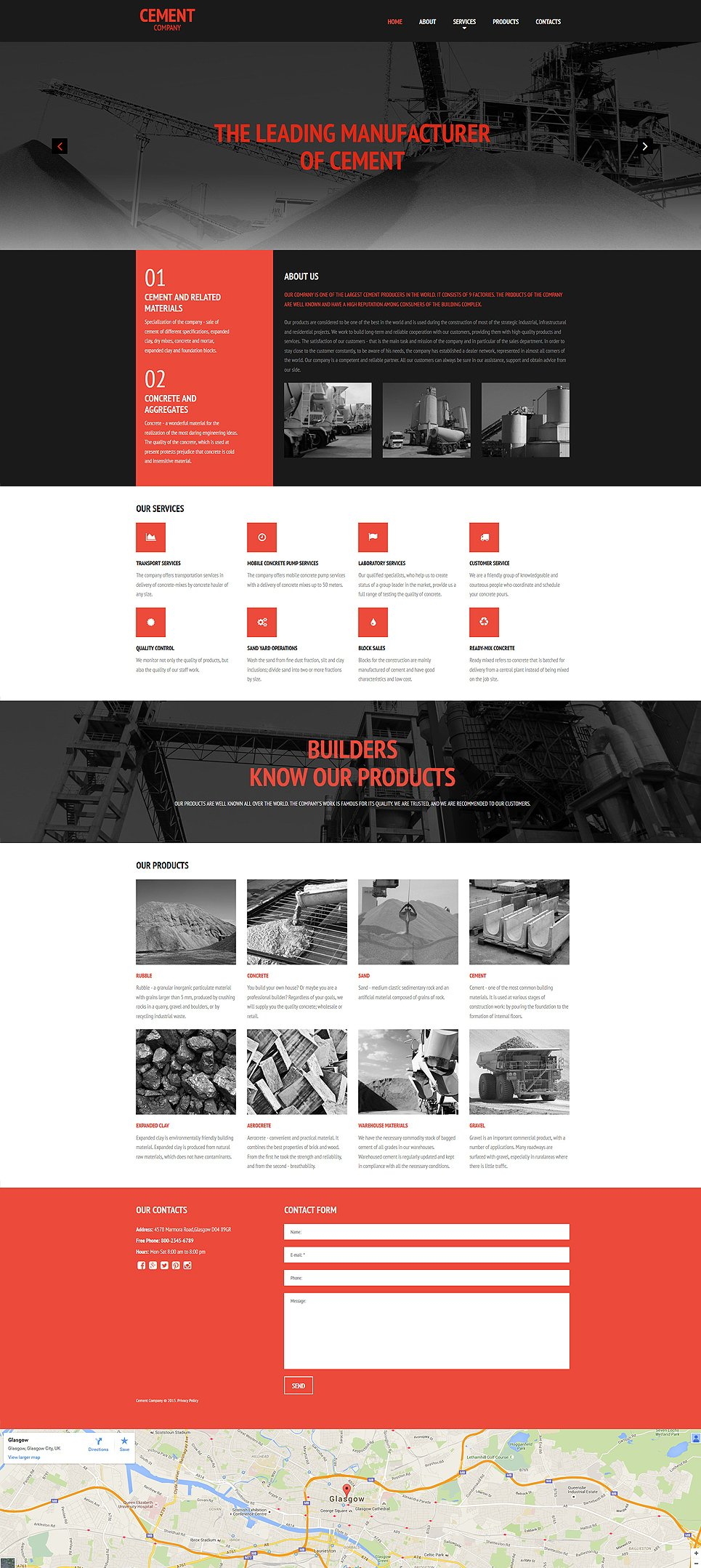 Responsive theme for industrial site