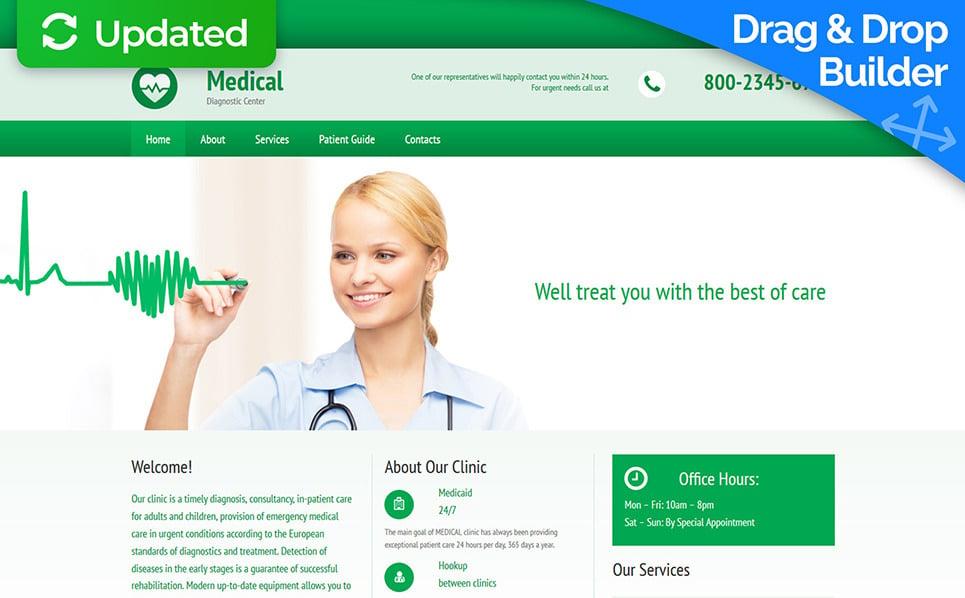 Modèle Moto CMS 3 adaptatif  pour site médical New Screenshots BIG