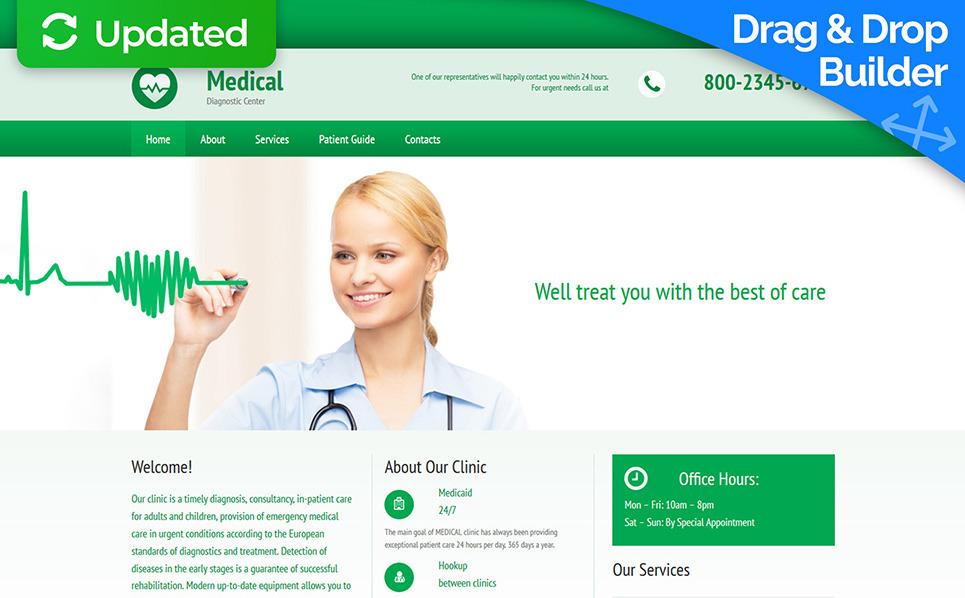 Tema Moto CMS 3 Responsive #55395 per Un Sito di Settore Medico New Screenshots BIG