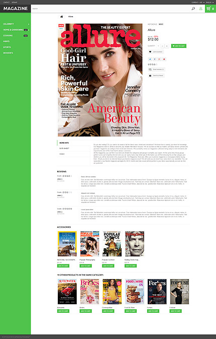 ADOBE Photoshop Template 55397 Home Page Screenshot