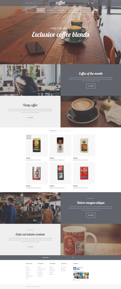 Coffee Shop Responsive Shopify шаблон