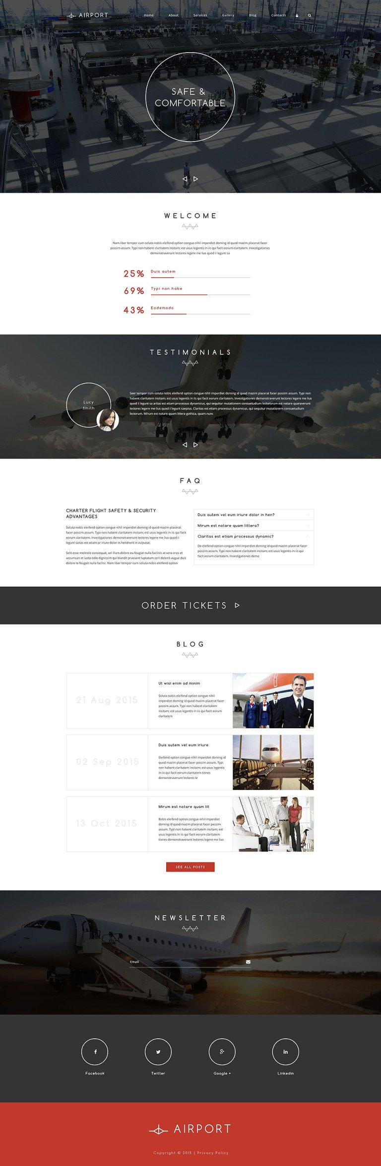Airline Service Drupal Template New Screenshots BIG