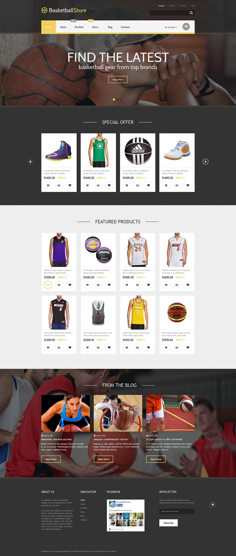 Basketball Store WooCommerce Theme New Screenshots BIG