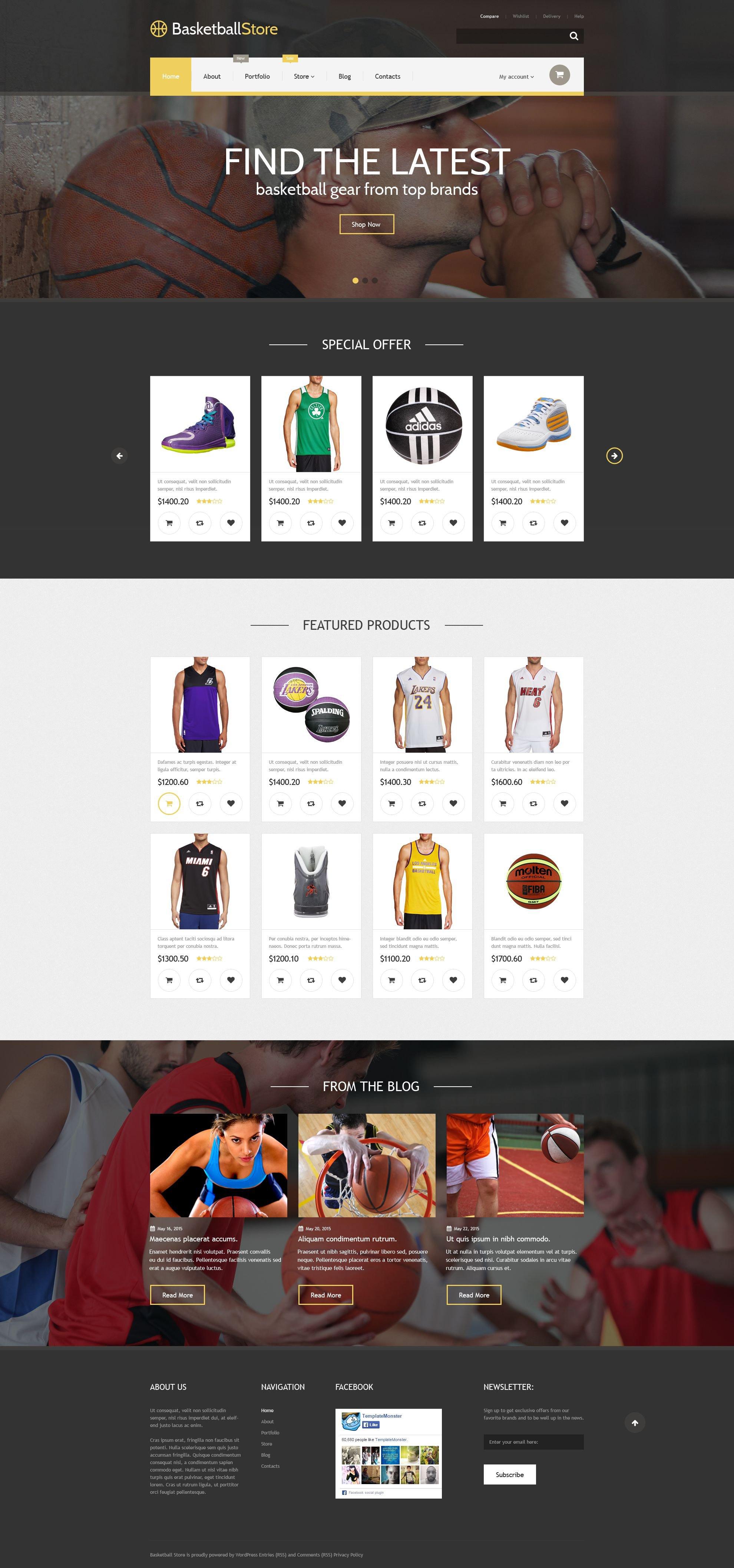 Basketball Store WooCommerce Theme - screenshot