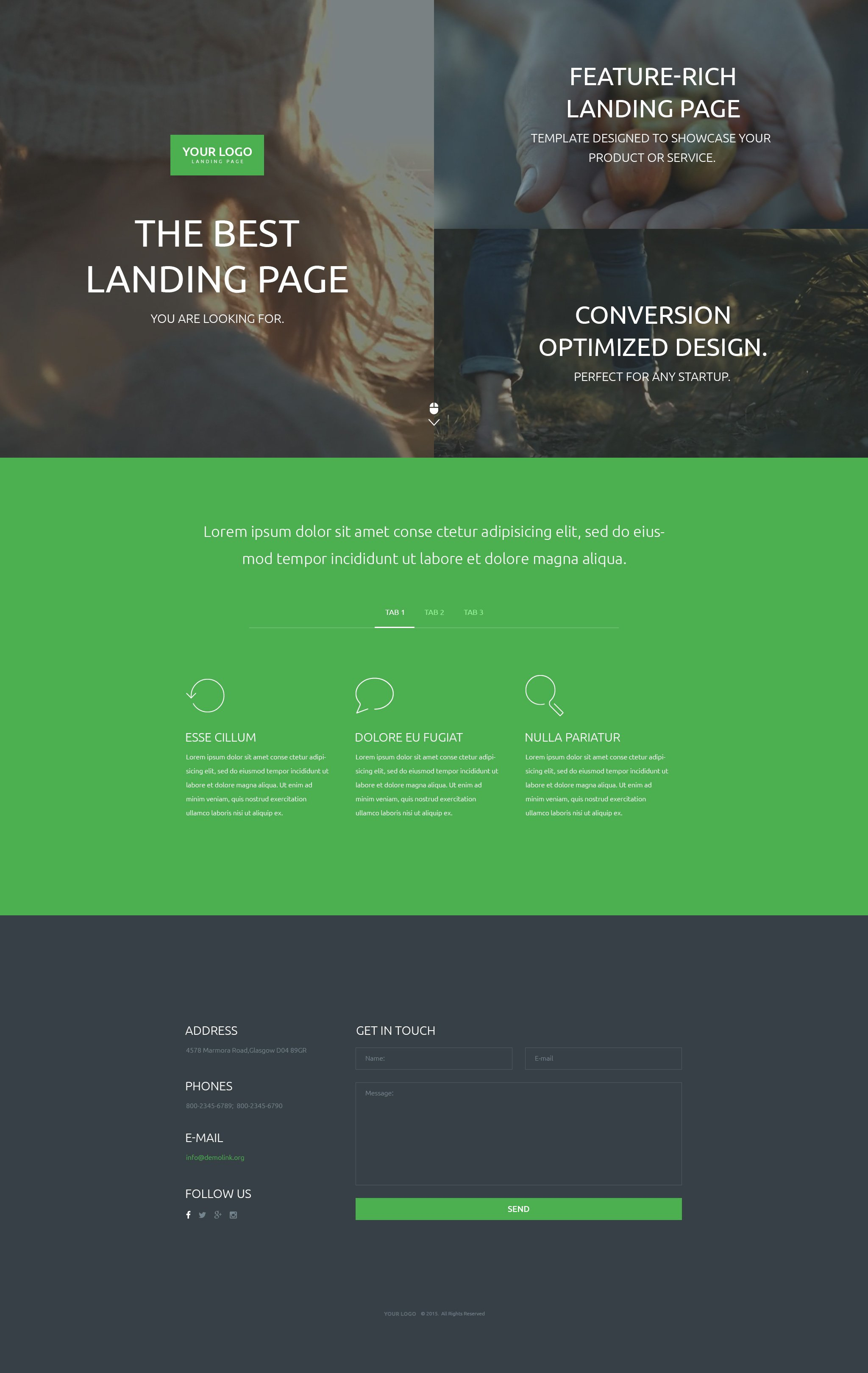 Landing page video template demirediffusion video background landing page templates templatemonster fbccfo Choice Image