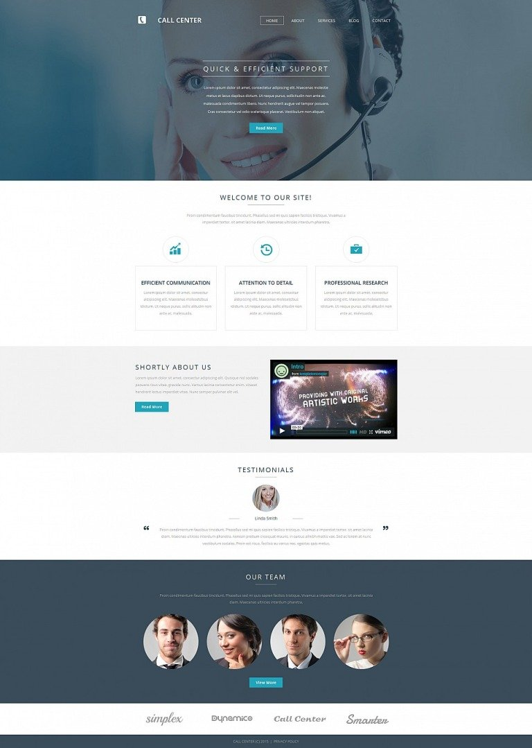 Call Center Responsive Moto CMS 3 Template New Screenshots BIG