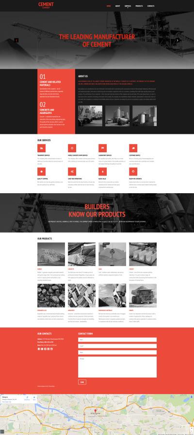 cement responsive templates templatemonster