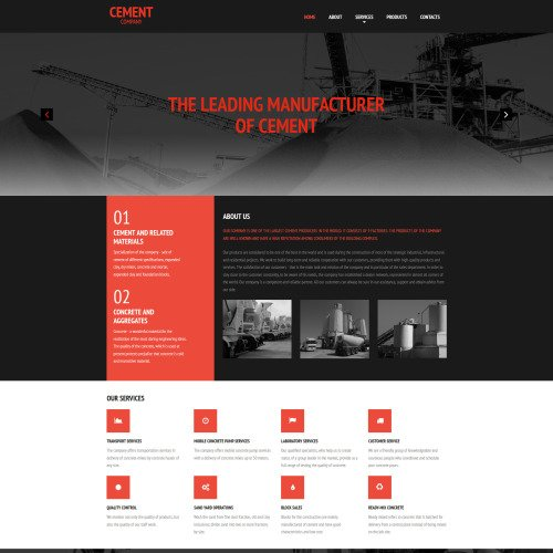 Cement - Cement Company Template based on Bootstrap