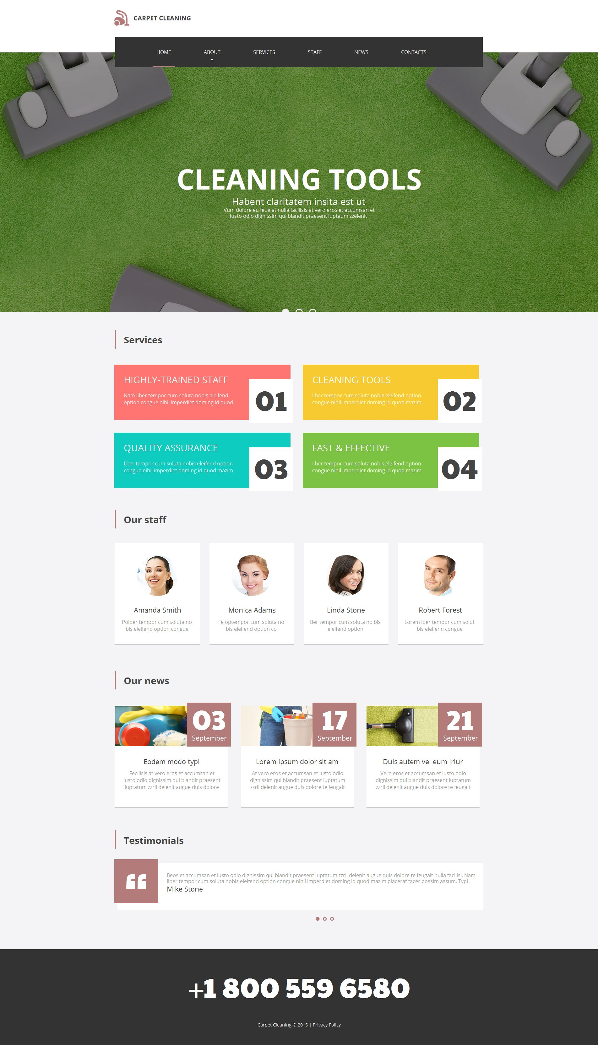 Cleaning Moto CMS HTML Template