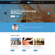 Construction Company Website Themes with Parallax Scrolling Effect
