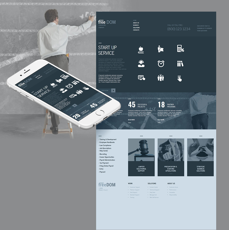 consulting moto cms html template 55308