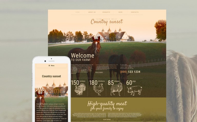 Country Sunset WordPress Theme