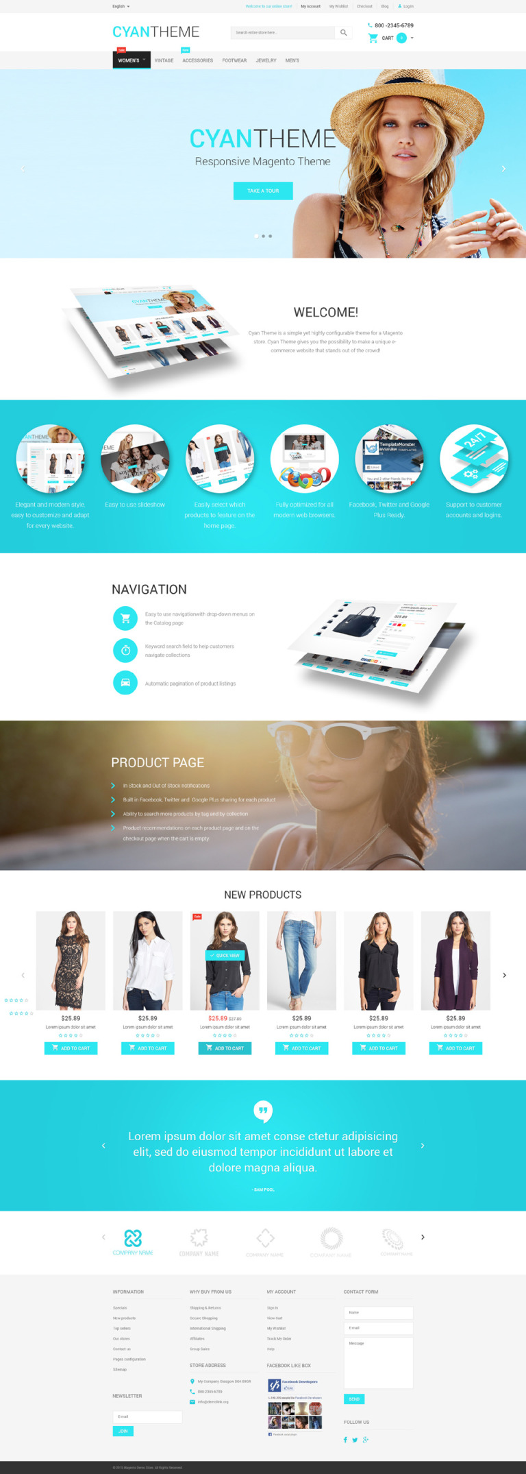 Cyan Theme Magento Theme New Screenshots BIG