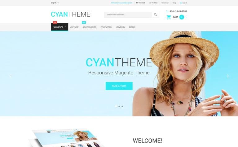 Cyan Theme Magento Theme