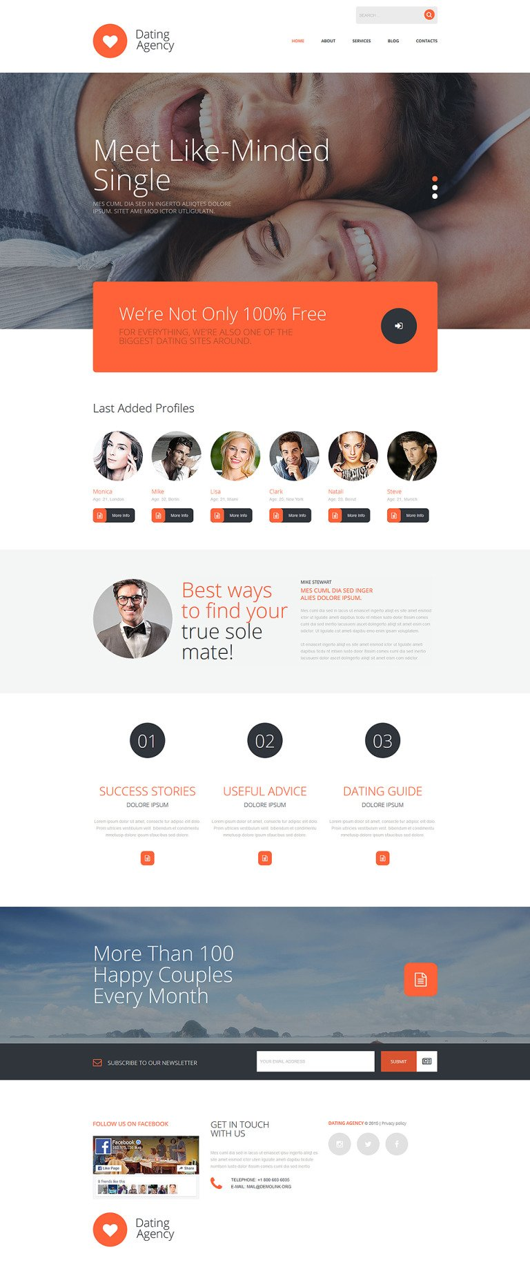 Dating Agency Joomla Template New Screenshots BIG
