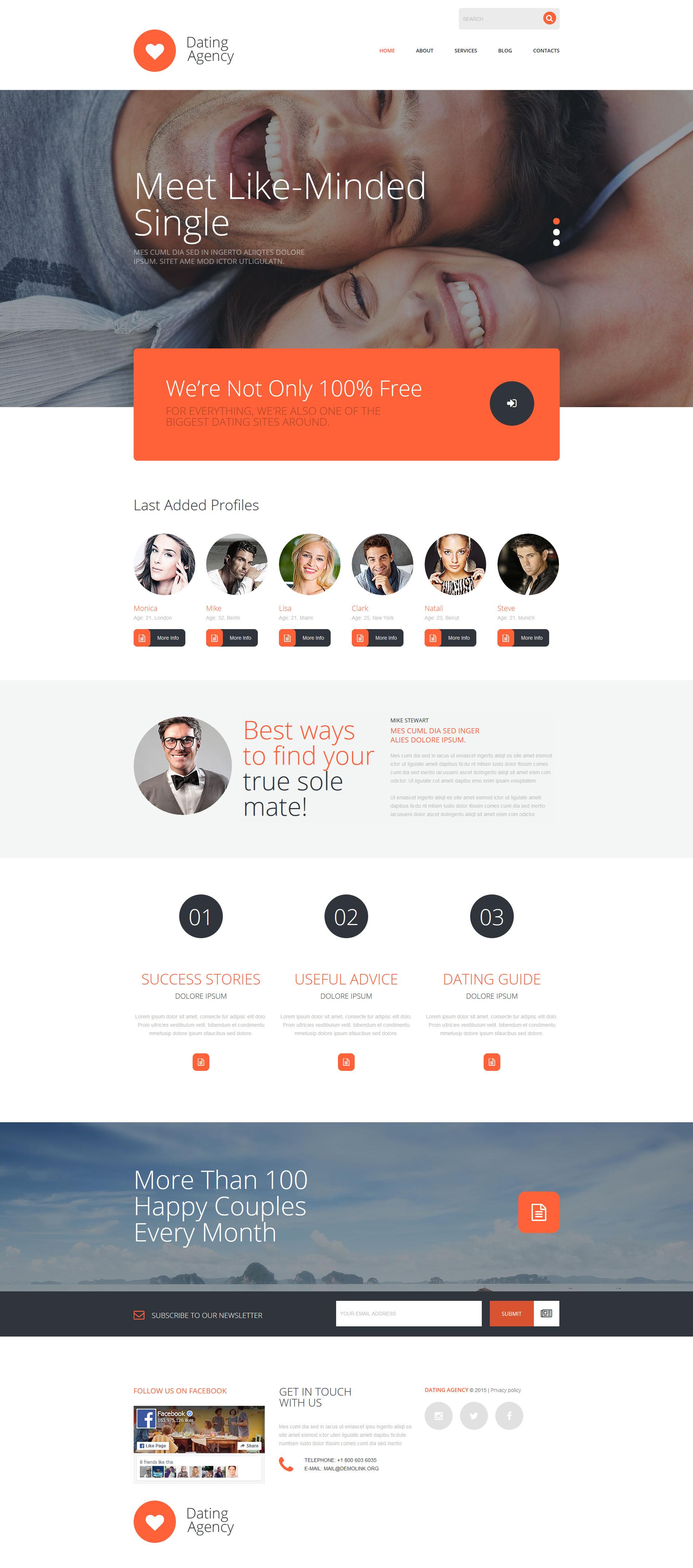 Joomla dating website templates Hoe schrijf je een goede online dating profiel