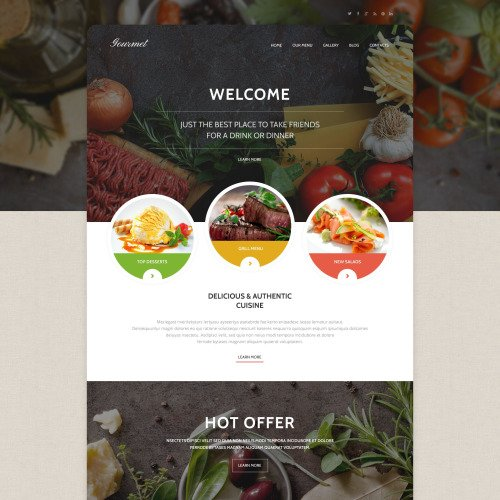 Gourmet - WordPress Template based on Bootstrap