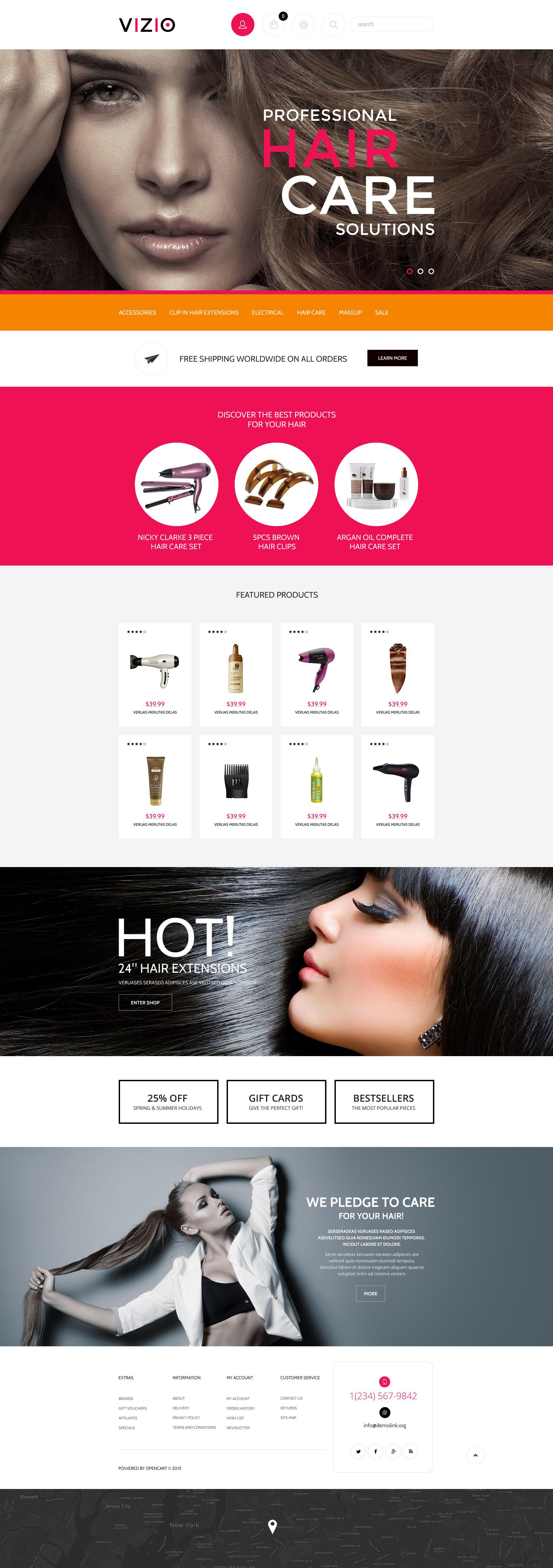 Hair Salon Responsive Shopify Theme - screenshot