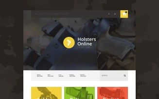Holsters Online Store OpenCart Template