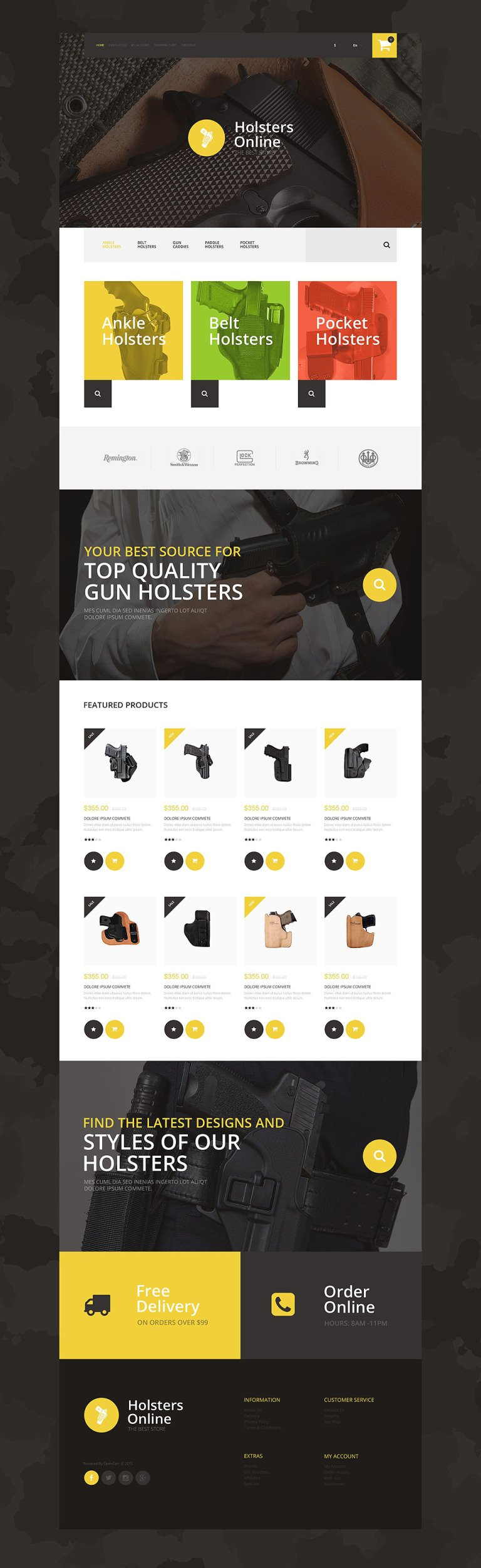 Holsters Online Store OpenCart Template New Screenshots BIG