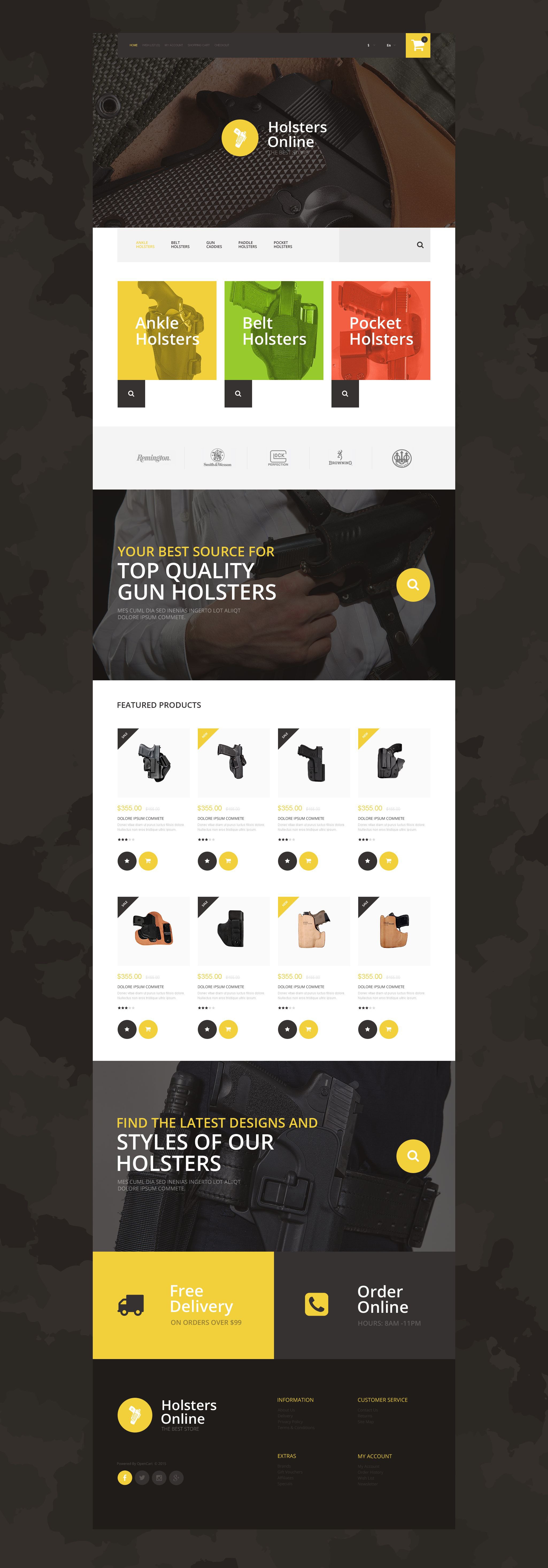 Weapons OpenCart Template