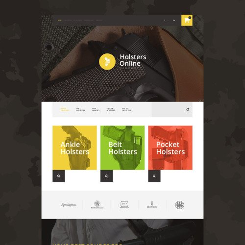 Holsters Online - OpenCart Template based on Bootstrap