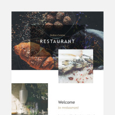 european restaurant responsive newsletter template 57923