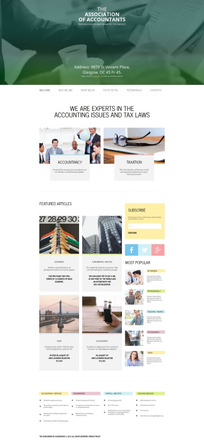 Accounting Website Moto CMS HTML šablona