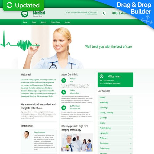 Medical - MotoCMS 3 Template based on Bootstrap