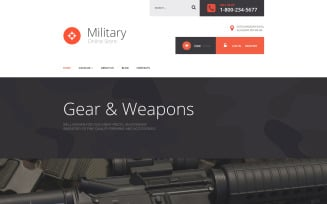 Military Store VirtueMart Template