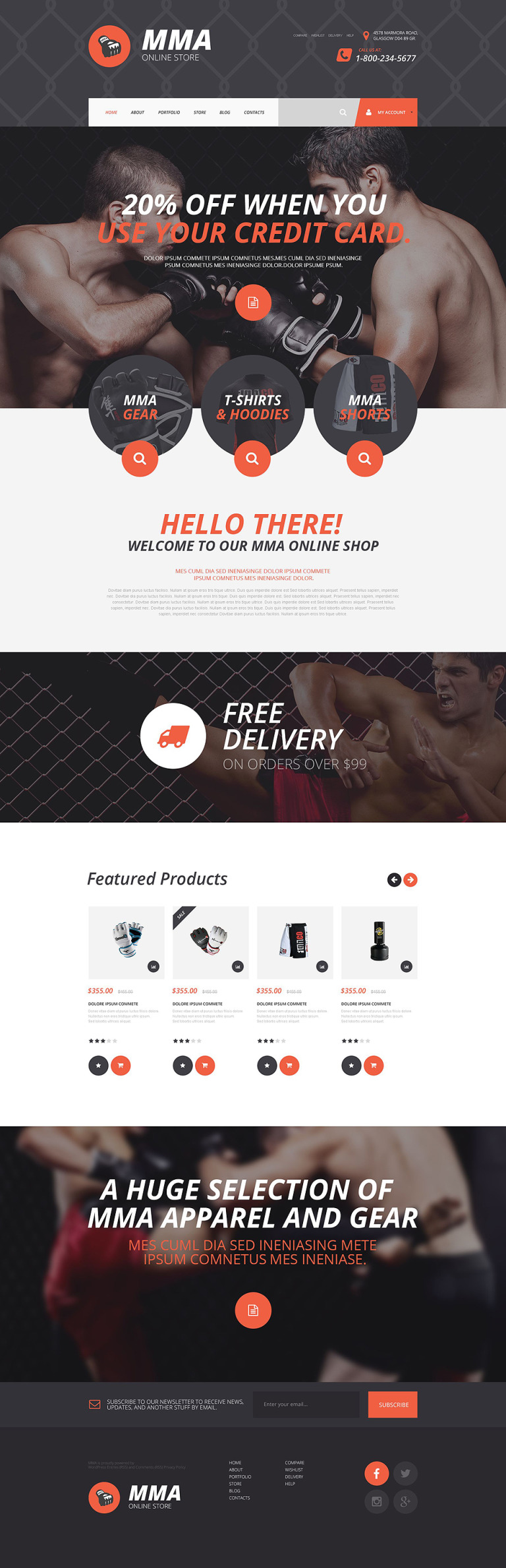 MMA Shopify Theme New Screenshots BIG