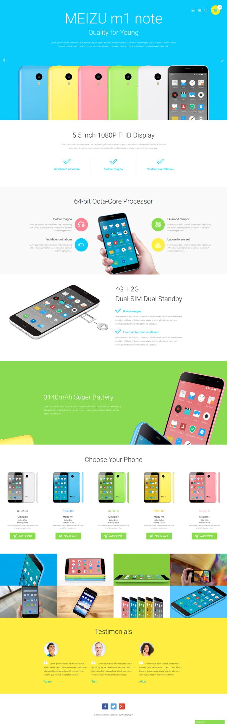 Mobile Store PrestaShop Theme New Screenshots BIG