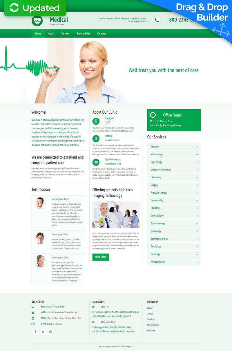 Modèle Moto CMS 3 adaptatif pour site médical #55395