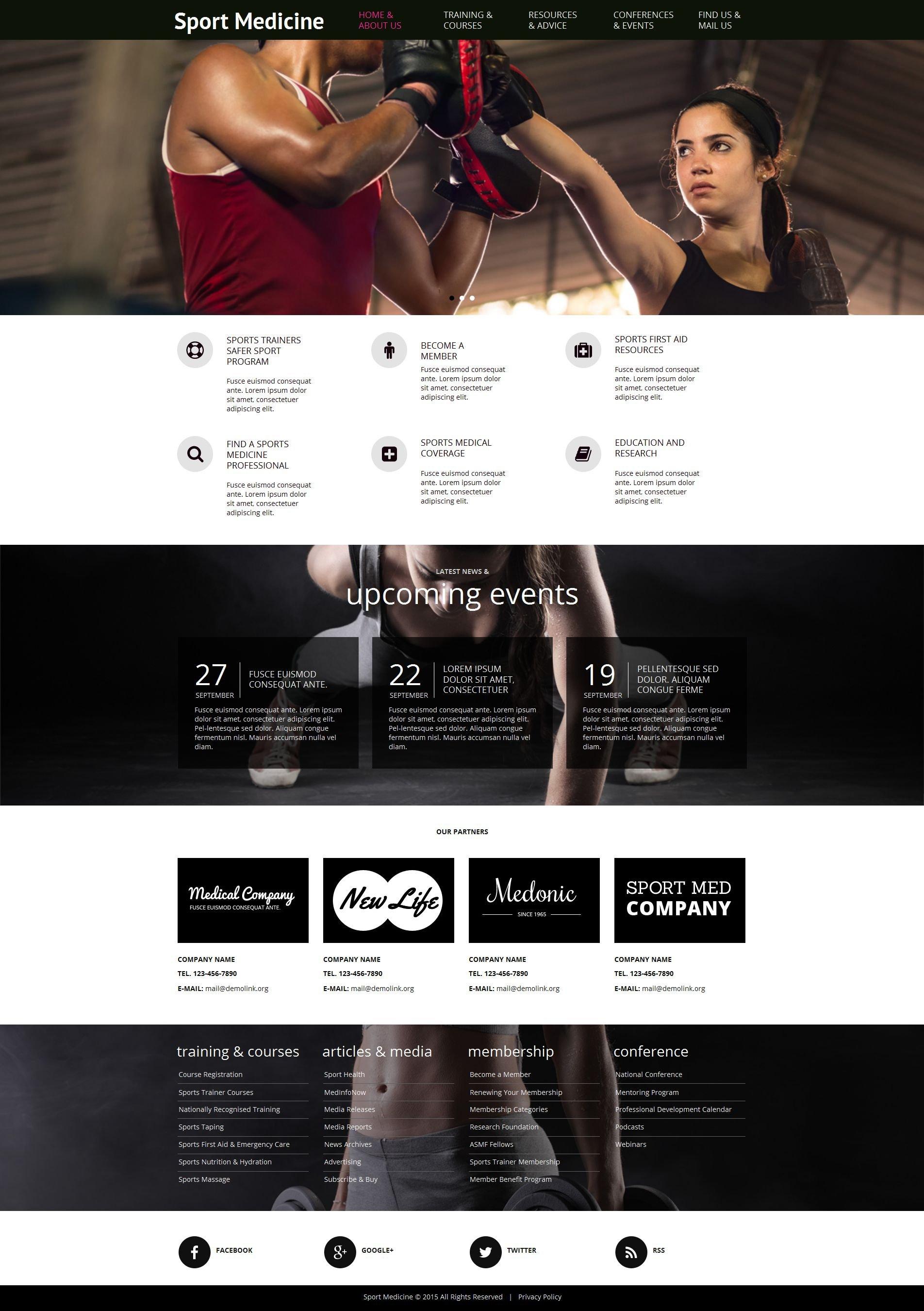 Modèle Moto CMS HTML Premium pour site de sport #55311 - screenshot