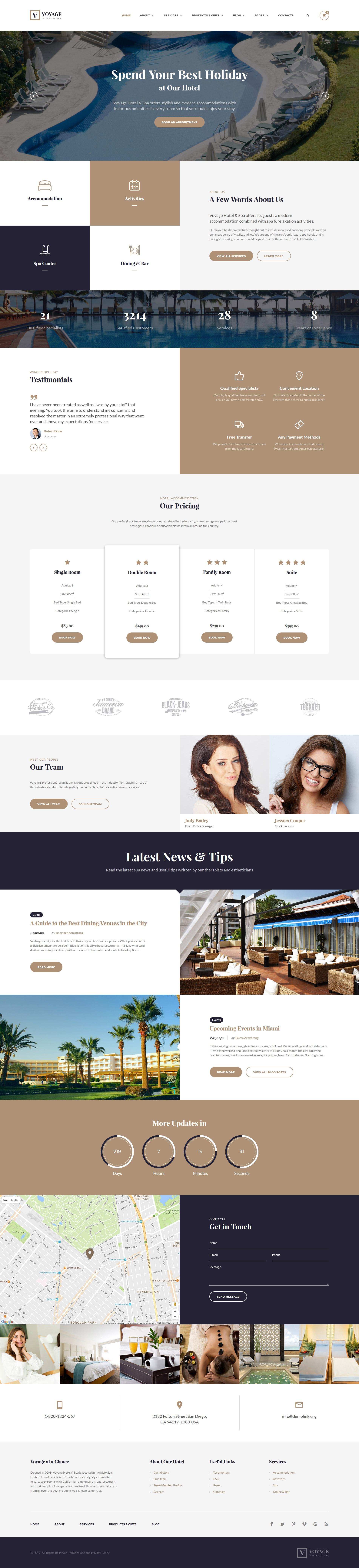 Modèle Web adaptatif pour site d'hôtel #55353 - screenshot