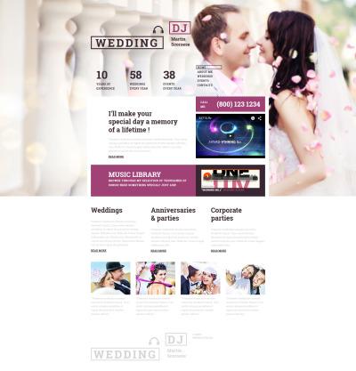 Wedding Responsive Tema Moto CMS 3