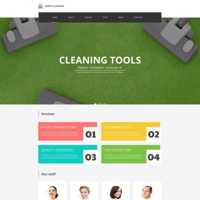 Moto CMS HTML Vorlage für Reinigung