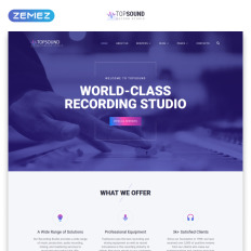 Music website templates music production co parallax website template pronofoot35fo Choice Image