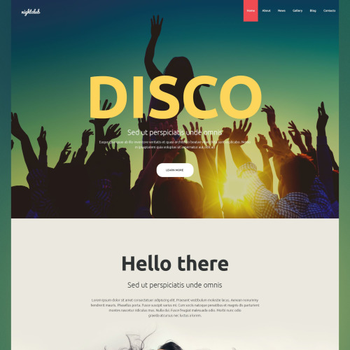 Nightclub - Joomla! Template based on Bootstrap