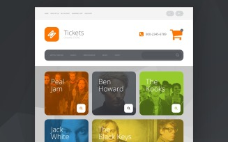Online Tickets OpenCart Template
