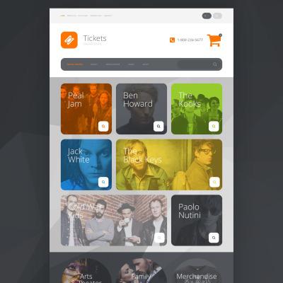 Thème OpenCart adaptatif  pour site de vente de billets